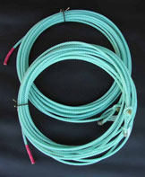 Polyester Nylon Blend ropes are made individually for that consistant feel. They have good weight and are available in 40',50', and 60' lengths. Lays available are xxsoft,xsoft,soft,softmed.,and medium.