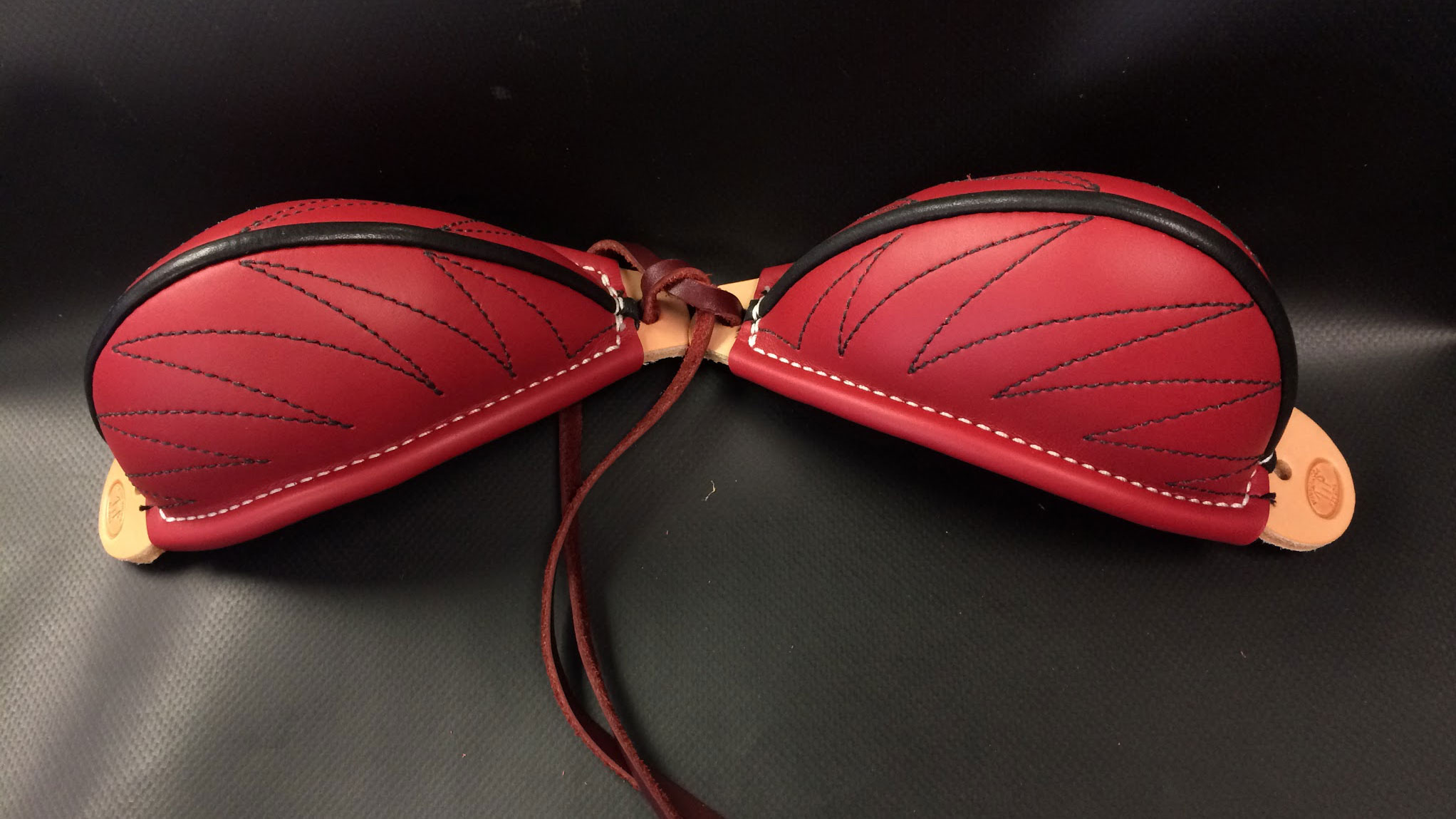 Our Red Bucking Roll matches our Red Horn Wrap and our Red Cantle Bags. We make the best bucking rolls available.