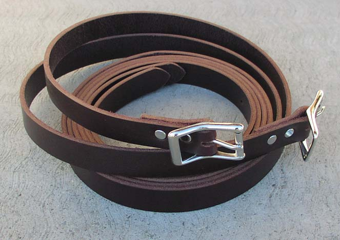 To keep your bedroll rolled up neatly when you are packing, hauling it or just to store it, we suggest a pair of 1 inch Latigo Bedroll straps. We make our straps from grade A Latigo leather.