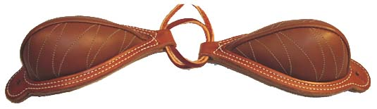 Tips Bucking Rolls are the finest available. The Cowboy Bucking Roll sometimes called the Elko Style has a double skirting leather base with the roll rising out of the center.