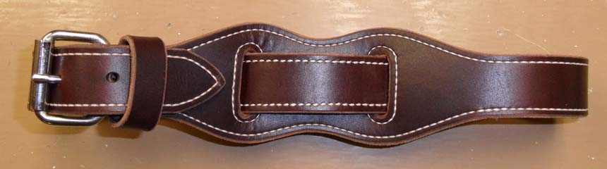 Our Cowboy hobble is designed so that only leather comes in contact with your horse insuring comfort for your horse. It is easy to use and will last for many years. The buckle is 11/4