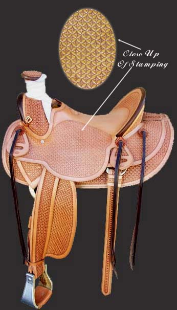 *3B Buckaroo saddle. This is one of our most popular saddles.The tree is a 3B with a 11