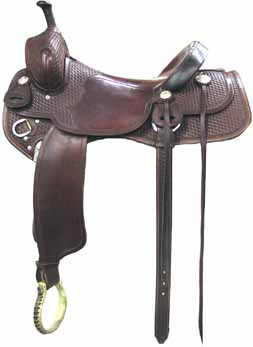 Tips Cutter saddle is made on a Buster Welch tree. You fit close to your horse snd the horse feels comfortable and can easily flex. Chestnut color is very rich with silver accents.